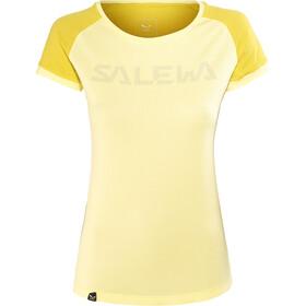 Salewa Pedroc Delta Dry t-shirt Dames geel